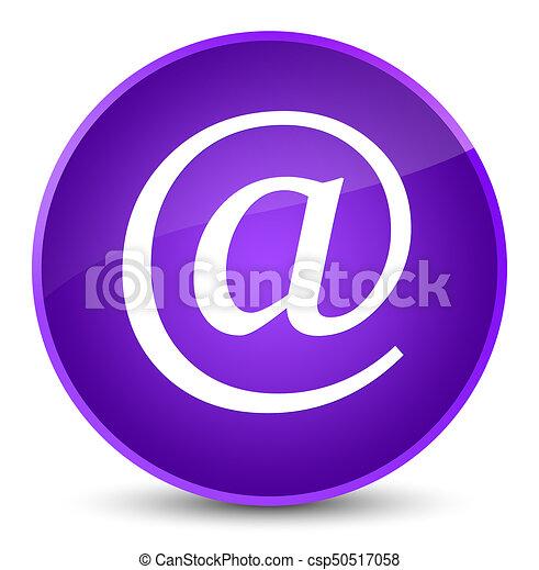 Email address icon elegant purple round button - csp50517058