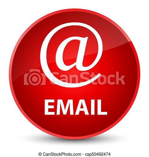 Email (address icon) elegant red round button - csp50492474