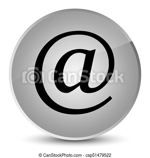 Email address icon elegant white round button - csp51479522