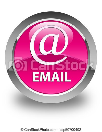 Email (address icon) glossy pink round button - csp50700402