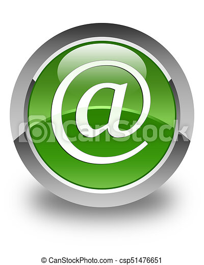Email address icon glossy soft green round button - csp51476651