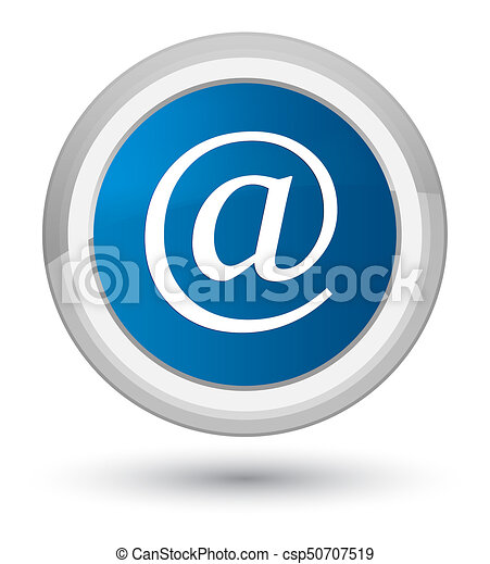 Email address icon prime blue round button - csp50707519