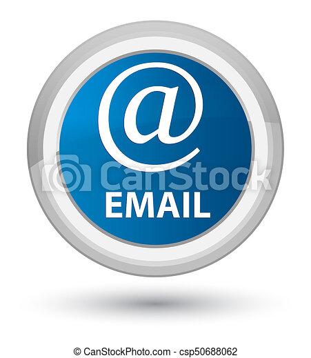 Email (address icon) prime blue round button - csp50688062