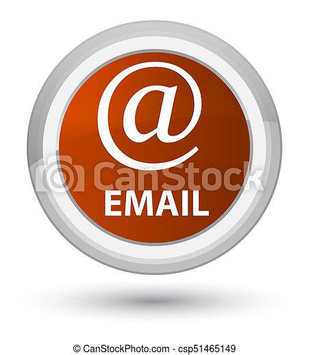 Email (address icon) prime brown round button - csp51465149