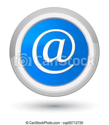 Email address icon prime cyan blue round button - csp50712730