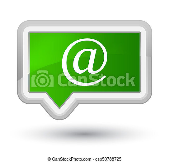 Email address icon prime green banner button - csp50788725