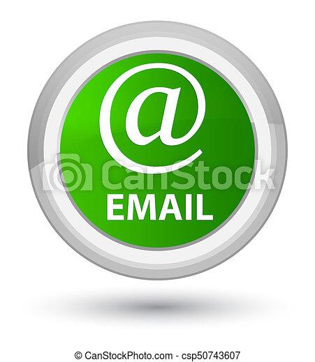Email (address icon) prime green round button - csp50743607