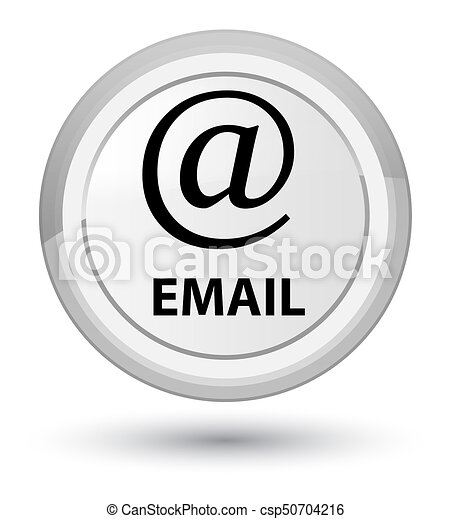 Email (address icon) prime white round button - csp50704216