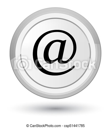 Email address icon prime white round button - csp51441785