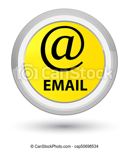 Email (address icon) prime yellow round button - csp50698534