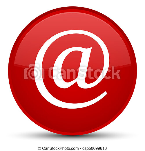 Email address icon special red round button - csp50699610