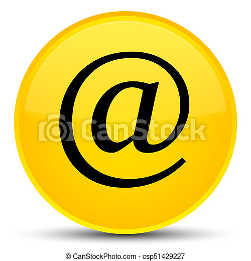 Email address icon special yellow round button - csp51429227