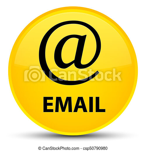 Email (address icon) special yellow round button - csp50790980