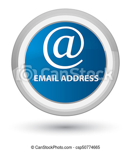 Email address prime blue round button - csp50774665