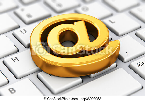 Email At Symbol On Computer Keyboard Creative Abstract Online