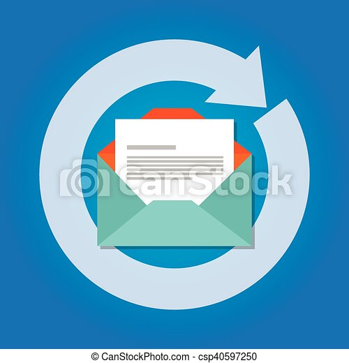 email automatic auto reply response icon send - csp40597250