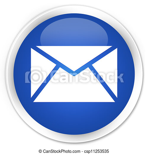 Email blue button - csp11253535