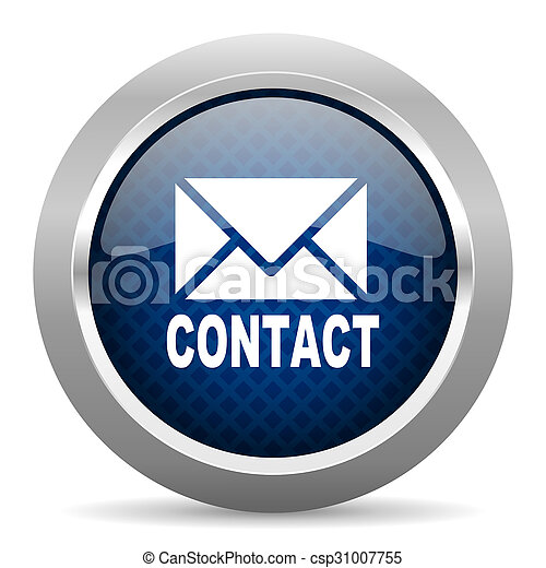 email blue circle glossy web icon on white background, round button for internet and mobile app - csp31007755