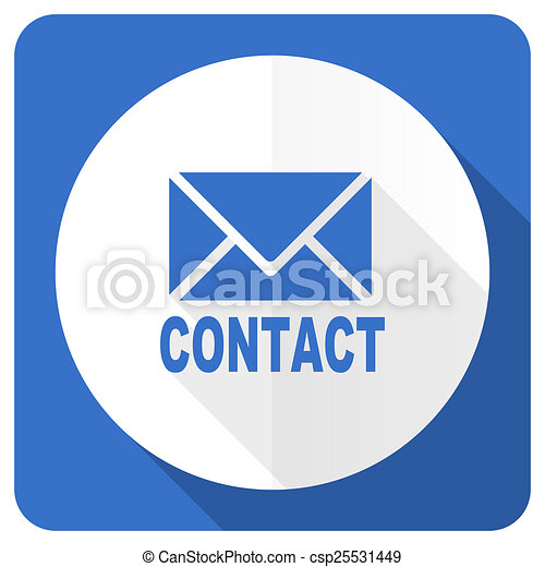 email blue flat icon contact sign - csp25531449