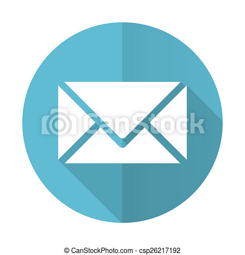 email blue flat icon post sign - csp26217192