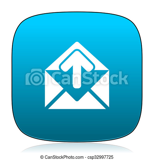 email blue icon - csp32997725