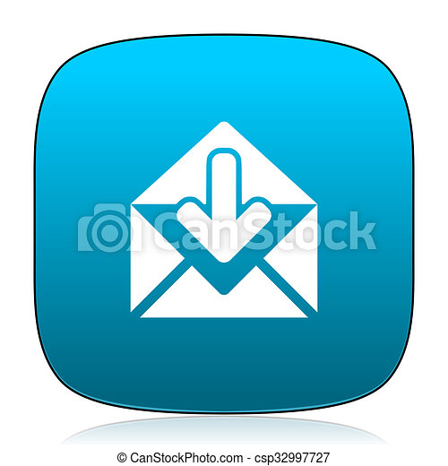 email blue icon - csp32997727