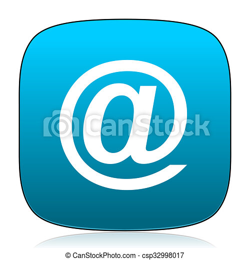 email blue icon - csp32998017