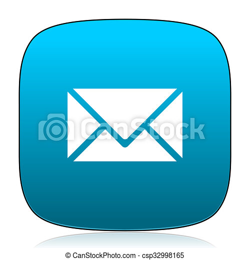 email blue icon - csp32998165