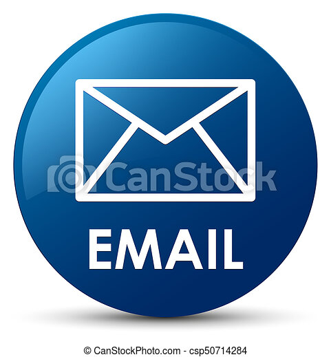 Email blue round button - csp50714284