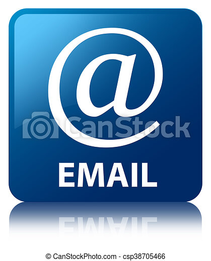 Email blue square button - csp38705466