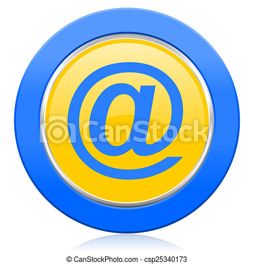 email blue yellow icon - csp25340173
