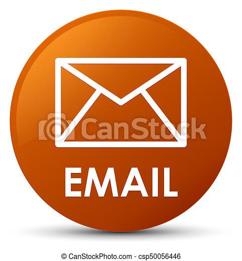 Email brown round button - csp50056446