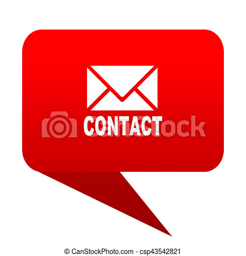 email bubble red icon - csp43542821