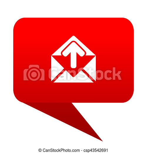 email bubble red icon - csp43542691