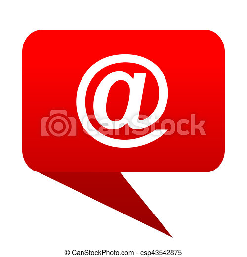 email bubble red icon - csp43542875