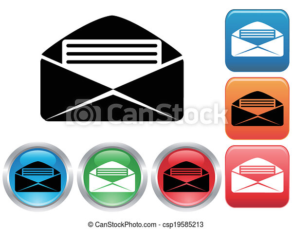 email buttons set - csp19585213