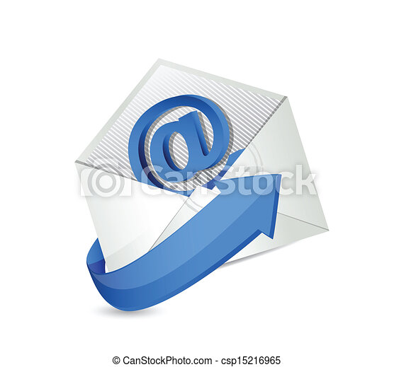 email., contact, mail., nous, illustration - csp15216965