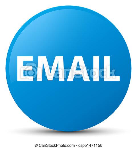 Email cyan blue round button - csp51471158