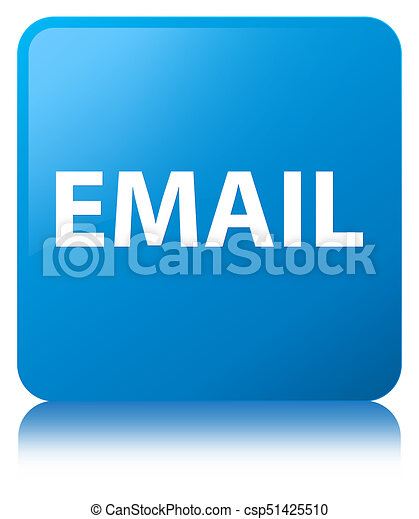 Email cyan blue square button - csp51425510