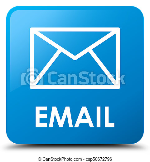 Email cyan blue square button - csp50672796