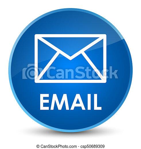 Email elegant blue round button - csp50689309