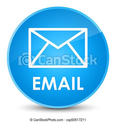 Email elegant cyan blue round button - csp50517211