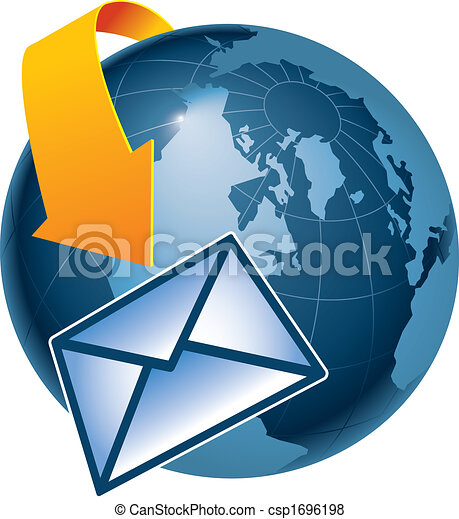 email encircling the earth - csp1696198