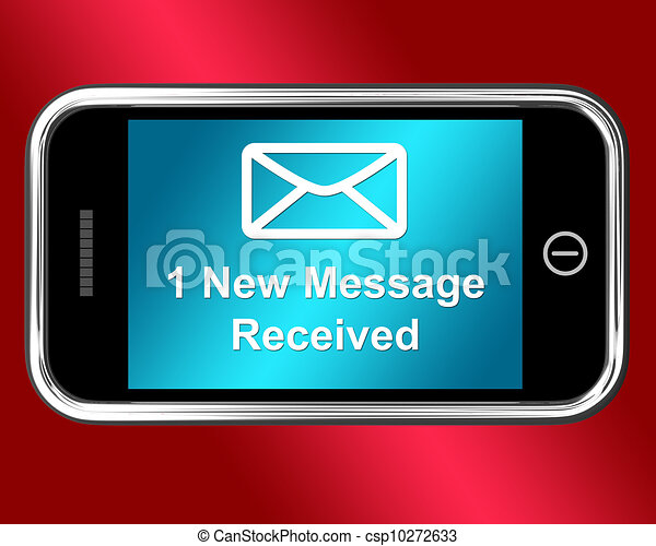 Email Envelope On Mobile Shows Message Received