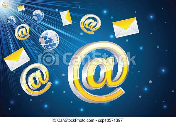 Email Flying - csp18571397