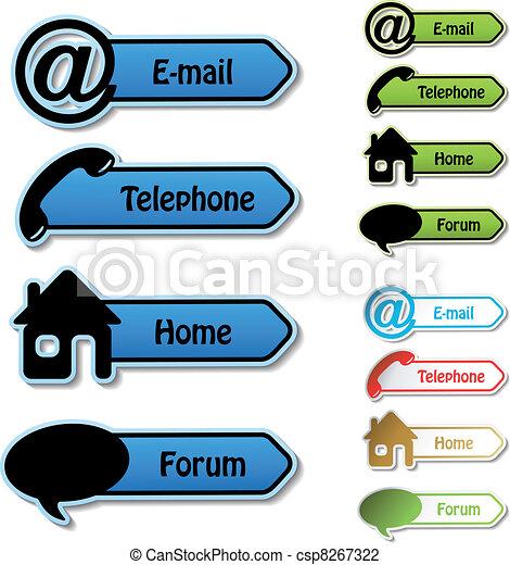 email, foro, -, vettore, telefono, bandiere, casa - csp8267322