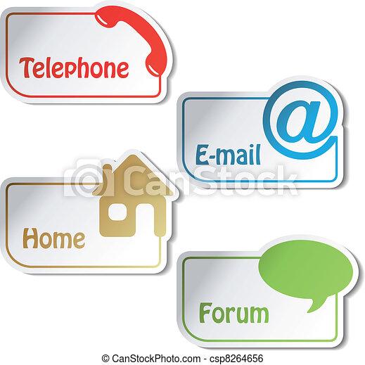 email, forum, -, vecteur, téléphone, bannières, maison - csp8264656