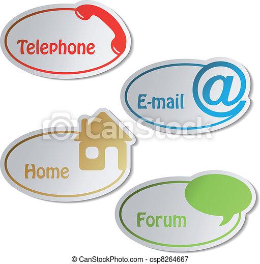 email, forum, -, vecteur, téléphone, bannières, maison - csp8264667