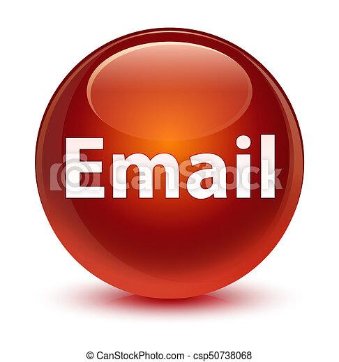 Email glassy brown round button - csp50738068