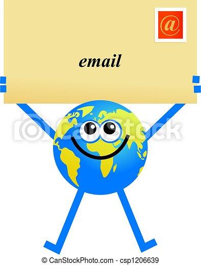 email globe - csp1206639
